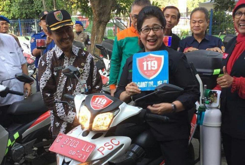 Kunjungan Menteri Kesehatan ke Posko Lebaran dan Markas PSC 119 Si Slamet Kabupaten Batang