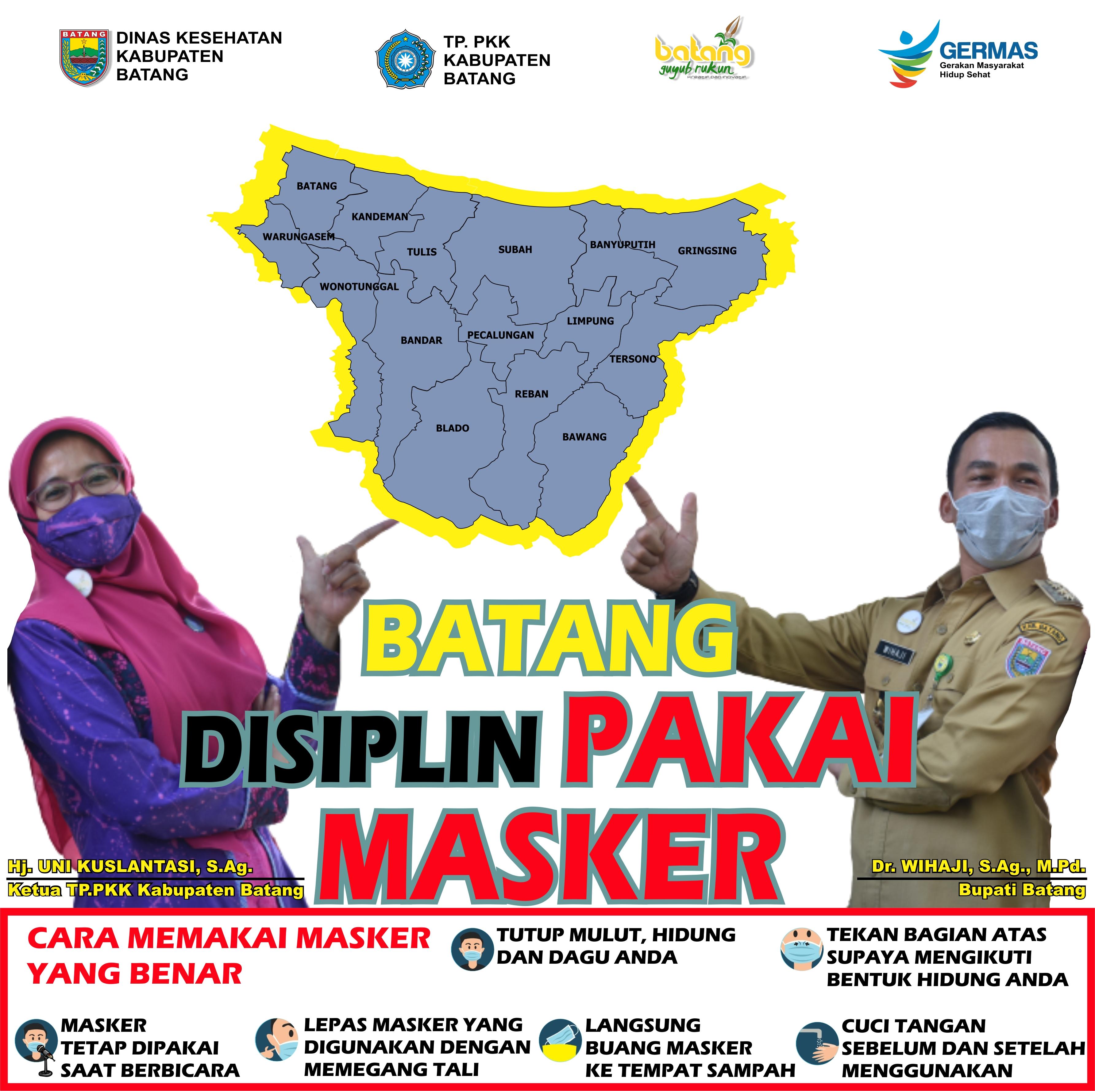 Batang Disiplin Pakai Masker